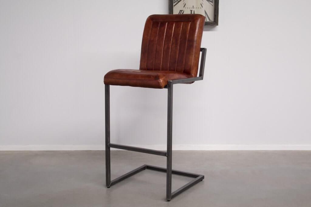 Buffalo Industrie Barhocker Hoch - Vintage Leder - Art. 399