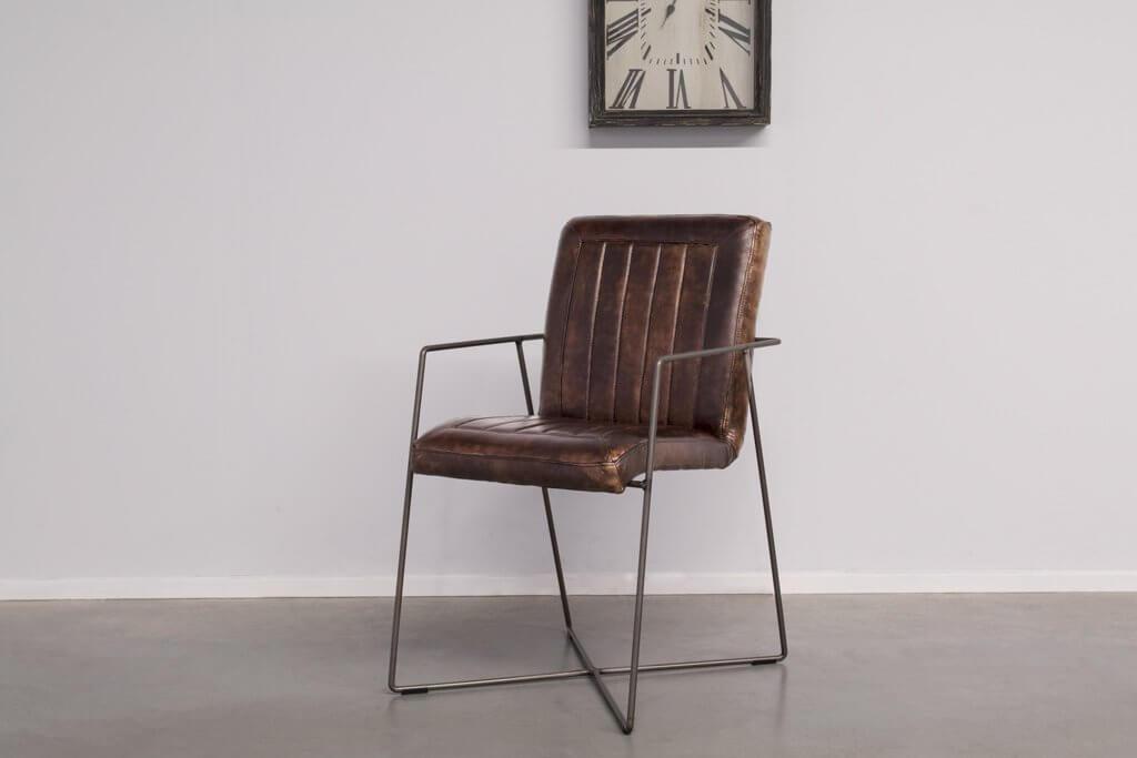 Buffalo Industrie Eszimmerstuhle - Vintage Lederstuhl - Art. 399DS
