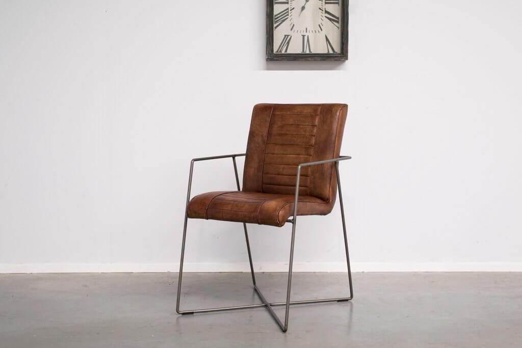 Buffalo Industrie Eszimmerstuhle - Vintage Lederstuhl - Art. 176DS