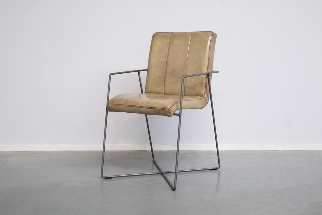 Buffalo Industrie Esszimmerstuhle - Vintage Lederstuhl - Art. 36DS | Station-7.de