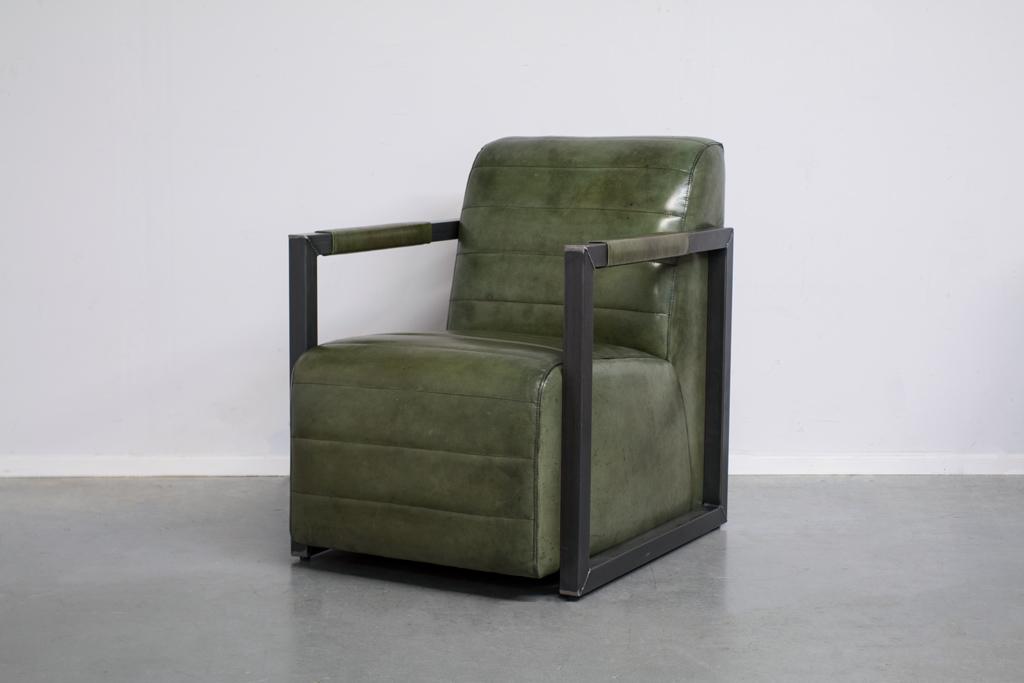 Buffalo Industrie Sessel Amerikanisch - Vintage Leder - Art. 312 | Station-7.de