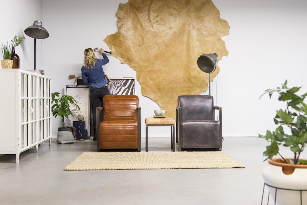 Buffalo Industrie Sessel Amerikanisch - Vintage Leder - Art. 309 | Station-7.de