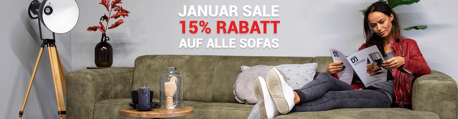 15% Rabatt auf alle Sofas